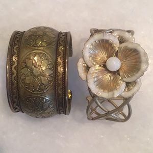 Jewelry - Set of Two Pretty Cuff Bracelets